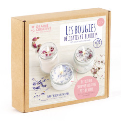 Kit Bougies fleuries - DIY