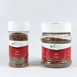 Lin graine en pot à épice